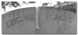 Relocated War Memorial, Nepean Highway, Frankston